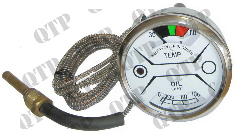 Gauge Nuffield 1060 Oil & Temperture White